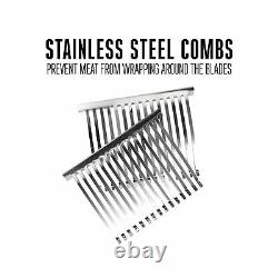 Weston Manual Jerky Slicer Single Support Stainless Steel Blade Charcoal Gray