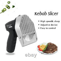 Wireless Kebab Slicer 402 Stainless Steel Blades Shawarma Gyros Meat Cutter CE